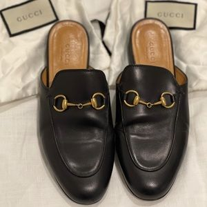 Gucci princetown leather slides. Size 36